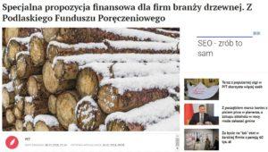 propozycja finansowa dla firm branży drzewnej